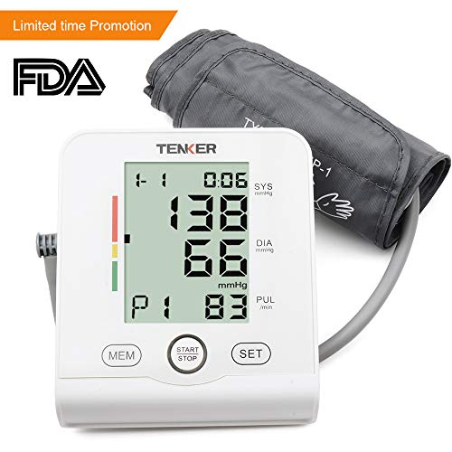 TENKER Digital Home Blood Pressure Monitor-2 Users*90 FDA Approved