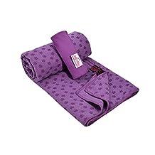 "My Sky Yoga Towel, Yoga Mat Towel Non Slip 72""x24"" Absorbent Microfiber Hand Towel for Vinyasa Hot Yoga Bikram"