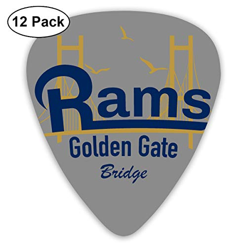 Golden State Bridge Rams Football California Exquisite Shell Surface Guitar Pick-12 Pieces of Packaging General Purpose]()