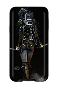 ZippyDoritEduard Fashion Protective Woman With Two Swords Fantasy Women Warrior Abstract Fantasy Case Cover For Galaxy S5
