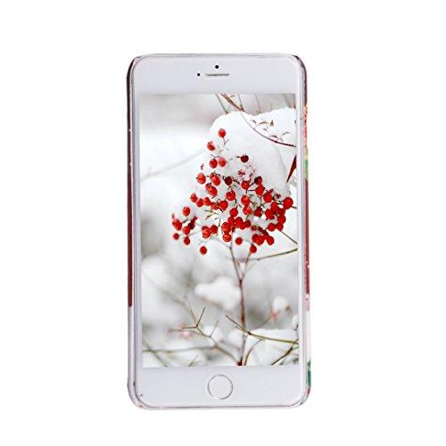 SpiritSun Weihnachten Serie Hülle für iPhone 6 (4.7 zoll) PC Hart Schutzhülle Ultradünnen Tasche Anti-stoß Kratzfeste Staubdicht Abdeckung Zurück Schutzhülle - Weihnachtsglocken