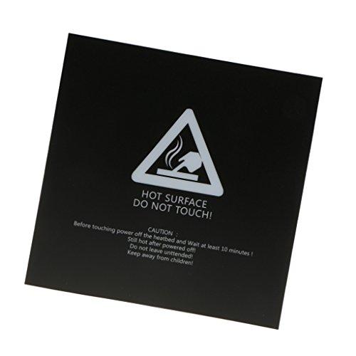 Baoblaze 3d Impresora Cama Construir Superficie Caliente Cama Caliente Cama Impresión Adhesivo - 300x300mm
