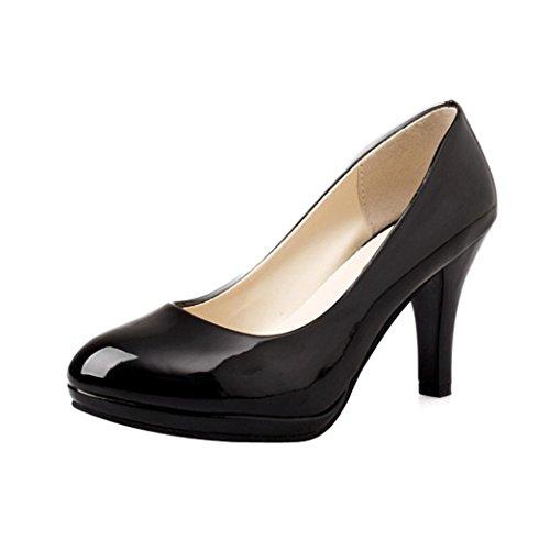 Superficiel Ronds Talons Women Bloc Noir à Rawdah Office Casual Spring Hauts Chaussures Escarpins Bain 4BYwTB