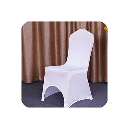 25 50 100 pcs Universal White Stretch Spandex Chair Cover Lycra Polyester Fabric Wedding Banquet Party Hotel Dining Chair Covers,Arch Bottom,Russian Federation,50PCS