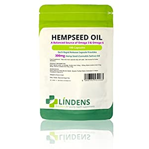 Lindens Hemp Seed Oil 300mg Capsules (100 Pack)