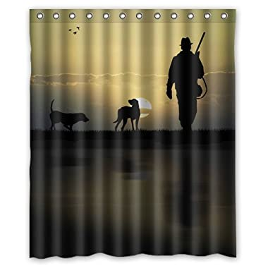 Hunting Background Waterproof Shower Curtain/Bath Curtain--Size: 60  x 72