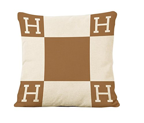 ME COO H pillow case Logo H Letter Cartoon Classical Geometr