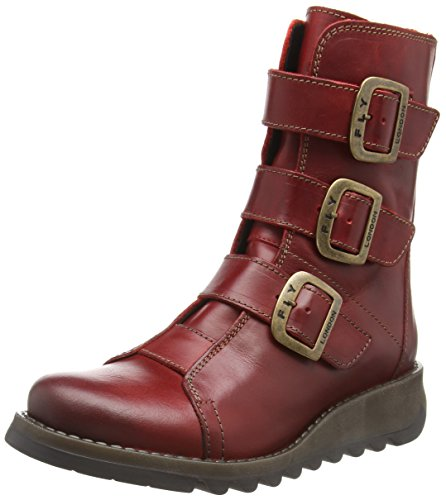 Scop110fly Red Motardes Fly 004 Rouge Femme Bottes London vzCCqw5