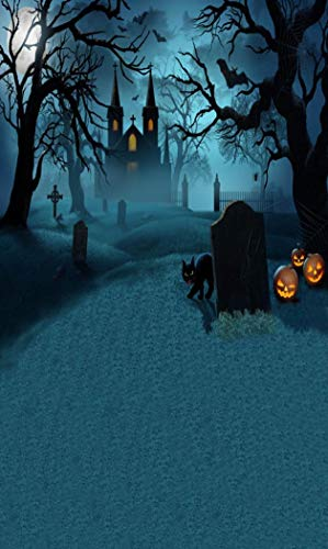 Vacally Halloween Bat Backdrops Pumpkin Vinyl 3x5FT Lantern Background Photography Studio Prop Backdrop Background Home Decor (H)