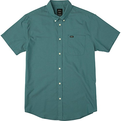 rvca-mens-thatll-do-oxford-short-sleeve-shirt-teal-green-large
