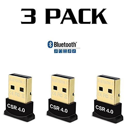* [ 3 Pack ] * Slim Bluetooth Universal Adapter Dongle Mini BT 4.0 USB 2.0 Wireless Converter for PC Mac Laptop Plug Play by buytosave (Image #4)