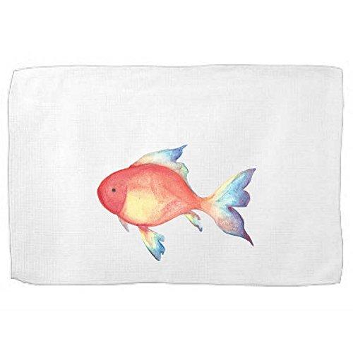 Tropical Fish Kitchen Towel,Sea Creature Dish Towel,Tea Towel,Flour Sack Towel,Sea Dish Towel,Flour Sack Kitchen Towel,Flour Sack Dish (Fish Flour)