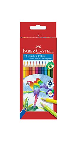 Faber-Castell 116512 Buntstifte Triangular, 12er Kartonetui