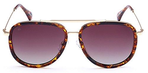 "PRIVÉ REVAUX ""The King"" Handcrafted Designer Polarized Brow Bar Sunglasses For Men & Women ()"