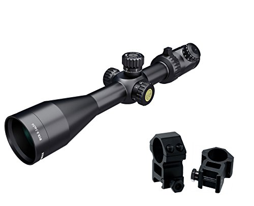 Athlon Optics , Argos BTR , Riflescope , 8-34 x 56 First Focal Plane (FFP) 30 mm Tube, Illuminated APMR MIL Reticle w/ 2 High Ring Mounts