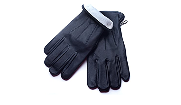 Details about  /Men/'s Winter Gloves Real Top Quality Leather Dress Fashion Inside Lining