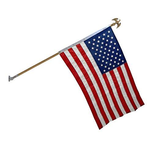 Online Stores Super Tough Nylon Flagpole Kit (5 Ft Hardwood with (Hardwood Flagpole)