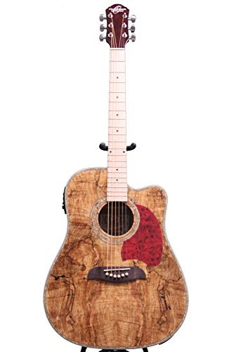 Oscar Schmidt Acoustic/Electric Dreadnought Guitar, Spalted Maple Top, OG2CEMFSM