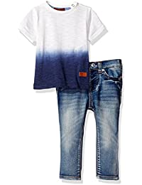 7 For All Mankind Boys' 2 Piece Two-Tone Tee and Jean Set