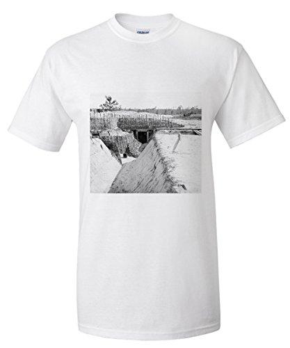 James River  Va   Confederate Fort Above Dutch Gap Canal Civil War Photograph  White T Shirt Xx Large