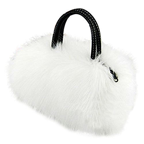 CrossBody Bag Nodykka Shoulder Bags Faux Fur Clutches Women Top-handle Purse Handbags - Fur Womens Handbag