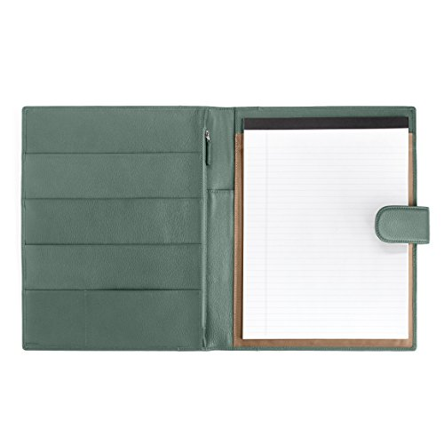 Leatherology Organizer Portfolio with Tablet Pocket & Magnetic Closure - Full Grain Leather Leather - Dusk (blue) by Leatherology