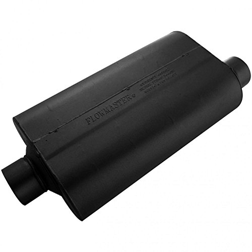 Flowmaster Universal Mufflers - Flowmaster 53057 Super 50 Muffler - 3.00 Center IN / 3.00 Offset OUT - Moderate Sound