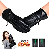 kamlif Heated Gloves Winter Warm Gloves Cycling Hiking Skiing Mountaineering Motorcycle Gloves for Woman with 2600mA Rechargeable Li-ion Battery Thanksgiving