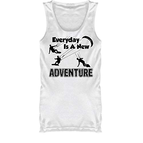 (Everyday is A New Adventure T-Shirt, Tank Top Men (L, White))