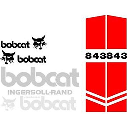 Bobcat Excavators (New Whole Machine Bobcat 843 Excavator Decal Set w/ Ingersoll-Rand Melroe Decals)