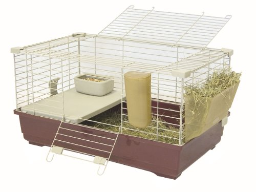 Marchioro Wheel - Marchioro Tommy C 72 Cage for Small Animals, 28.25 inches, Wine/Beige