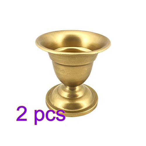 Metal Vase Decorative Wrought Iron - Healifty European Retro Iron Vase Metal Gold Vase Modern Table Creative Home Decorative Artificial Flower Bottle for Wedding 2pcs (Gold)