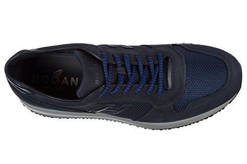 Hogan Zapatos Zapatillas de Deporte Hombres EN Ante Nuevo Interactive Blu