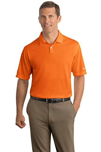 (Nike Golf - Dri-FIT Pebble Texture Polo. 373749, Orange, X-Large)
