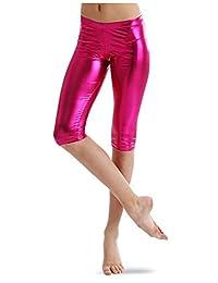 Girls Metallic Capri Leggings Sizes 6-18