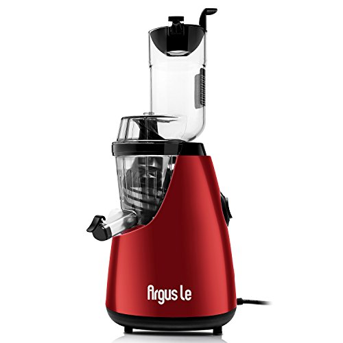 Argus Le 3″ Big Mouth Whole Slow Masticating Juicer with Quiet Motor, Low Speed Cold Press Juice Extractor, 75mm Wide Chute Easy Cleaning Vertical Juicer Machine for High Nutrient Fruit and Veggies