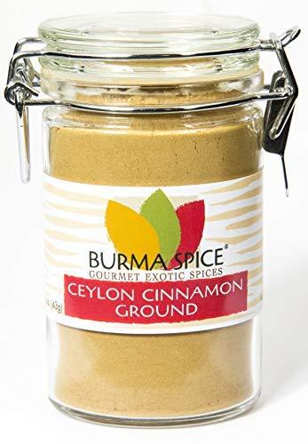 Ground Ceylon Cinnamon | Very freshly ground | Highest Premium Grade | 100% Pure with no additives | Kosher Certified (1.5oz)