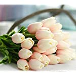 JOEJISN-30pcs-Artificial-Tulips-Flowers-Real-Touch-Pink-Tulips-Fake-Holland-PU-Tulip-Bouquet-Latex-Flowers-for-Wedding-Party-Office-Home-Kitchen-Decoration-Light-Pink