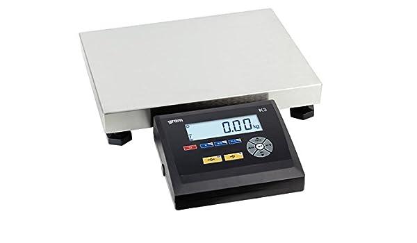 Báscula de plataforma Pro pèse-colis industria Boulangers etc 40 x 50 cm- capacidad: 60 kg, Lectura A 10 G: Amazon.es: Oficina y papelería