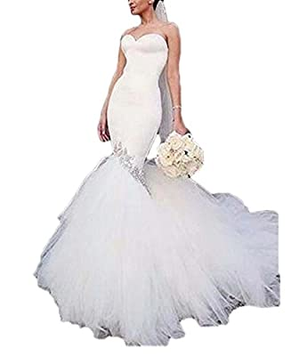 alilith.Z Sexy Sweetheart Bodycon Satin Bridal Gowns Beaded Rhinestones Long Mermaid Wedding Dresses for Bride 2018 Ball Gown