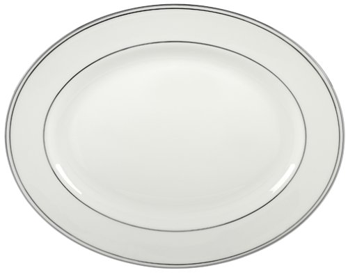 Oval China Platter - Lenox Federal Platinum 13-Inch Bone China Oval Platter
