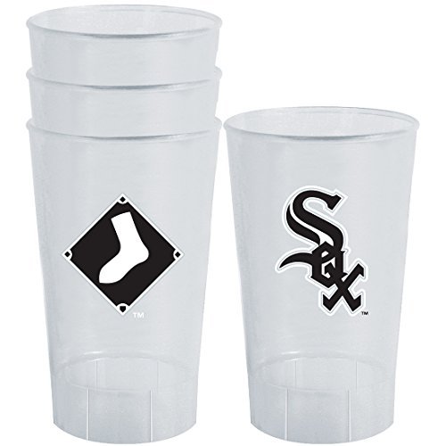 MLB Chicago White Sox Plastic Tumbler (Pack of 4), 16 oz., White ()