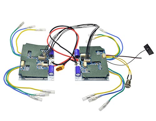 Hobbysky 24V 4WD 4-Motor Drive ESC Electric Speed Controller for Brushless  Hub Motor+Heat Sink Aluminum+Lithium Battery Indicator+2 4G RC Transmitter