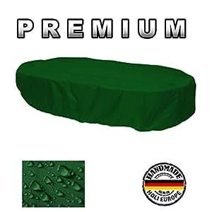 Premium–Carcasa de protectora Muebles de Jardín ovalada 160cm x 100cm x 70cm abeto verde