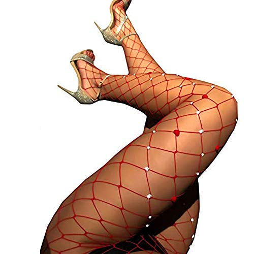 (Fairydreamy Women's Sexy Crystal Rhinestone Suspender Pantyhose Tights Fishnet Diamond Stretchy Stockings Bling Hosiery)