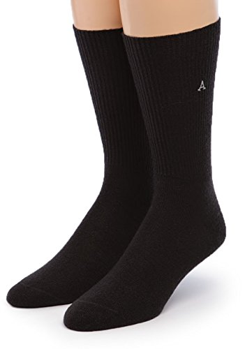Warrior Alpaca Socks - Men's Premium Baby Alpaca Wool Dress Socks (Black XL) ()