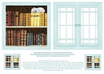 Acetato de abrir y cerrar ventanas - Estantería dormir gato Tarjeta por Elaine Sheldrake: Amazon.es: Hogar