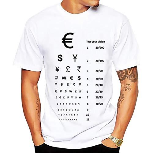 Zshirts Test Your Vision Print T Shirt Men