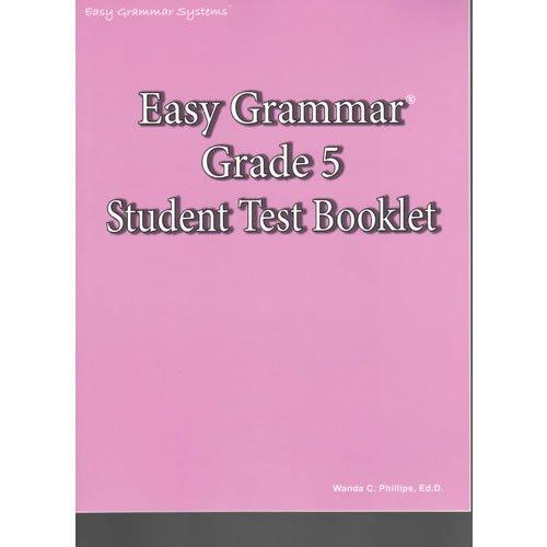 Read Online Easy Grammar Grade 5 Test Book pdf epub