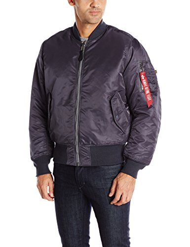 Alpha Industries Men's MA-1 Flight Jacket, Steel Blue, XL ()